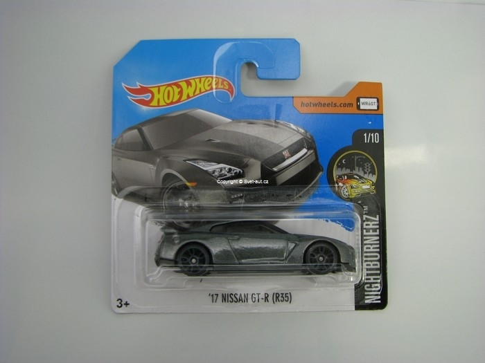 17 Nissan GT-R (R35) Grey Hot Wheels Nightburnez 1/10